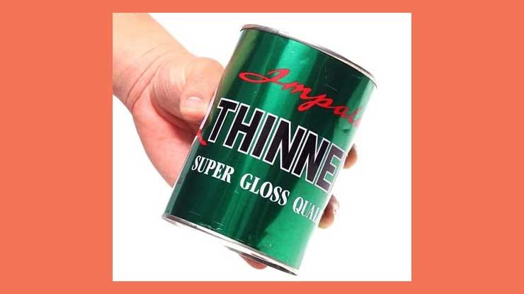1. Memakai Thinner