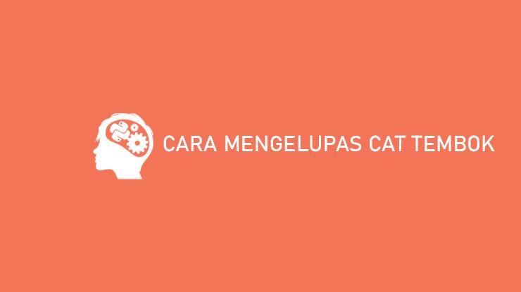 Cara Mengelupas Cat Tembok