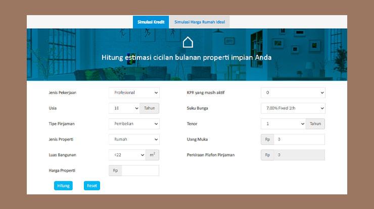 Cara Simulasi KPR Bank BCA Online