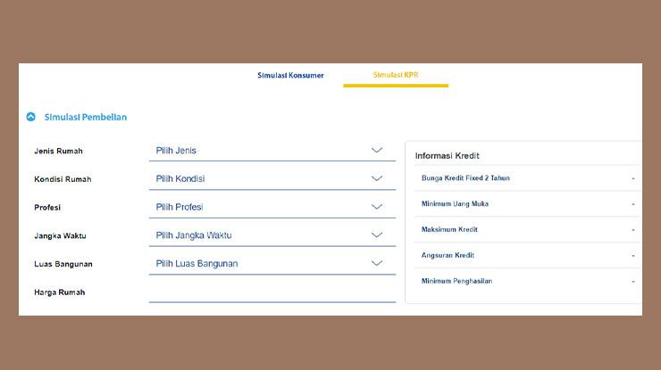 Cara Simulasi KPR Bank BJB Online
