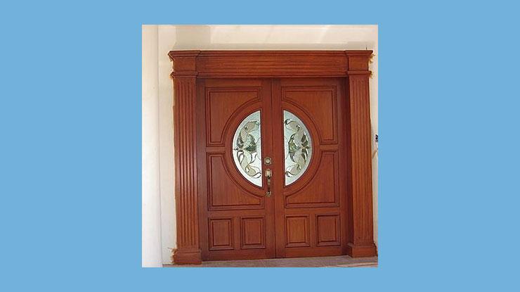 Pintu Kupu Tarung Minimalis Jati Jepara