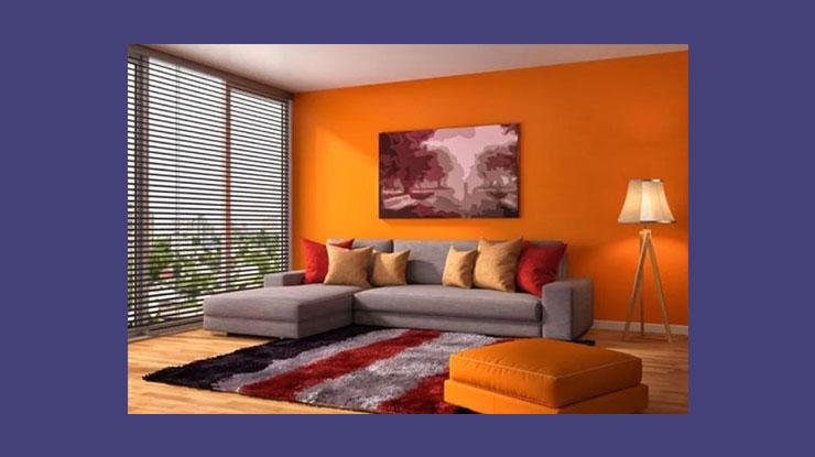 Warna Cat Rumah Oren yang Hangat