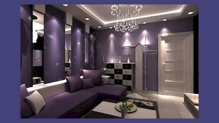 Warna Cat Rumah Ungu Tua yang Glamor