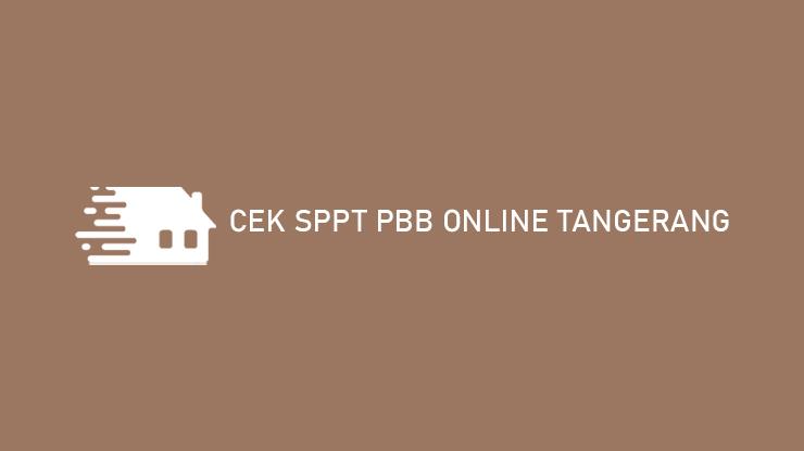 Cek SPPT PBB Online Tangerang
