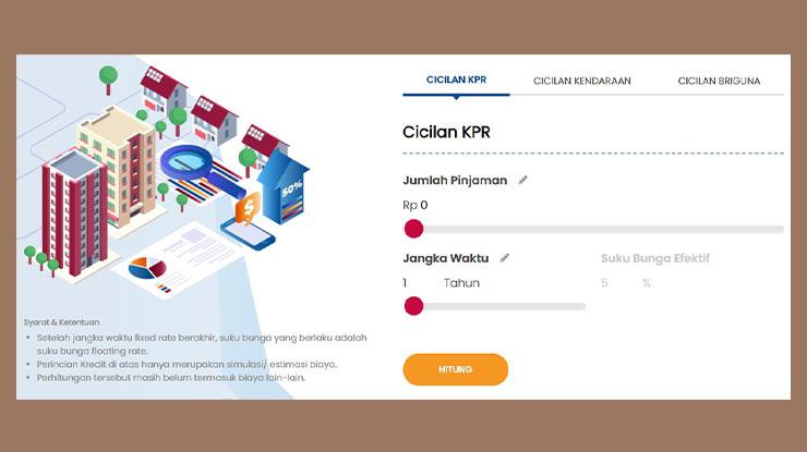 Cara Simulasi KPR Bank BRI Online