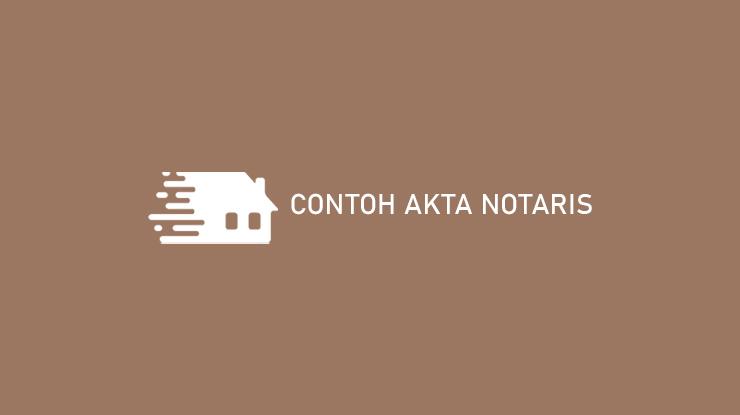 Contoh Akta Notaris