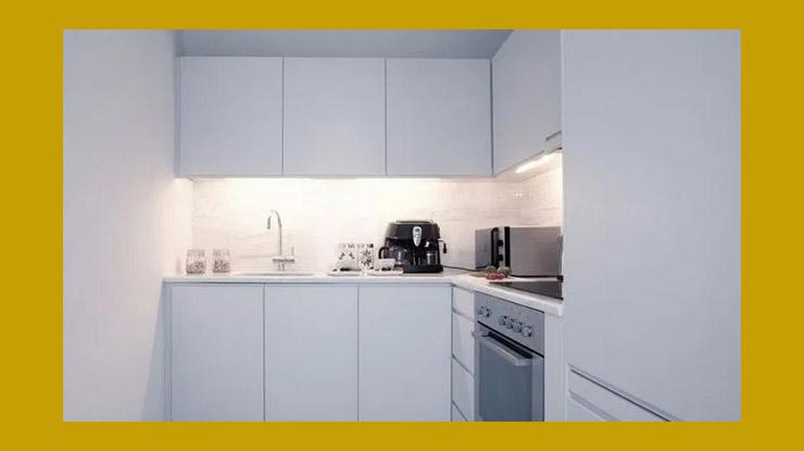 Desain Dapur Kontrakan Serba Putih