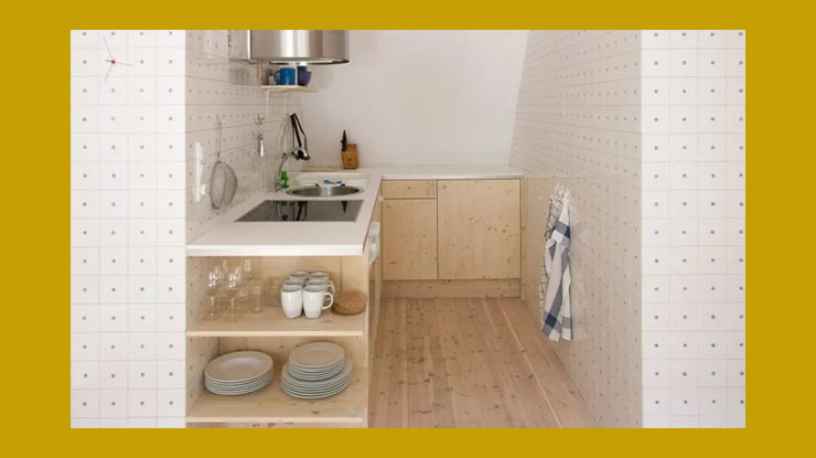 Desain Dapur Kontrakan di Sela Dinding