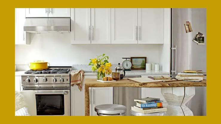 Desain Dapur dengan Area Makan