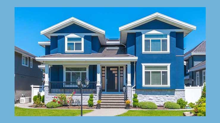 Biru Warna Cat Tembok Luar Rumah