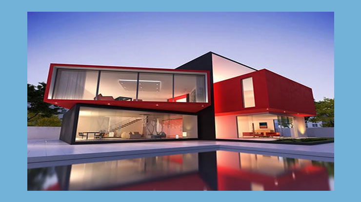 Merah Warna Cat Tembok Luar Rumah