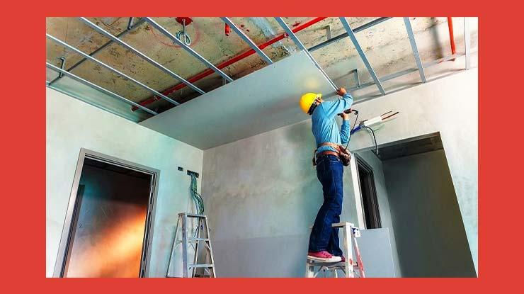 Harga Borongan Pasang Plafon Gypsum Per Meter