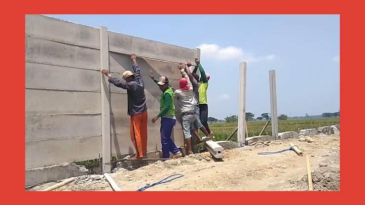 Harga Borongan Pasang Pagar Panel Beton Per Meter