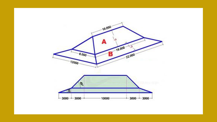Menghitung Panjang Miring Atap Rumah Joglo